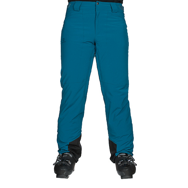Salomon Icemania Mens Ski Pants, Moroccan Blue, 600