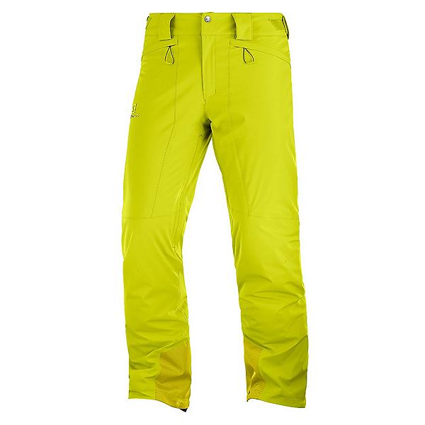 Salomon Icemania Mens Ski Pants, Citronelle, 600