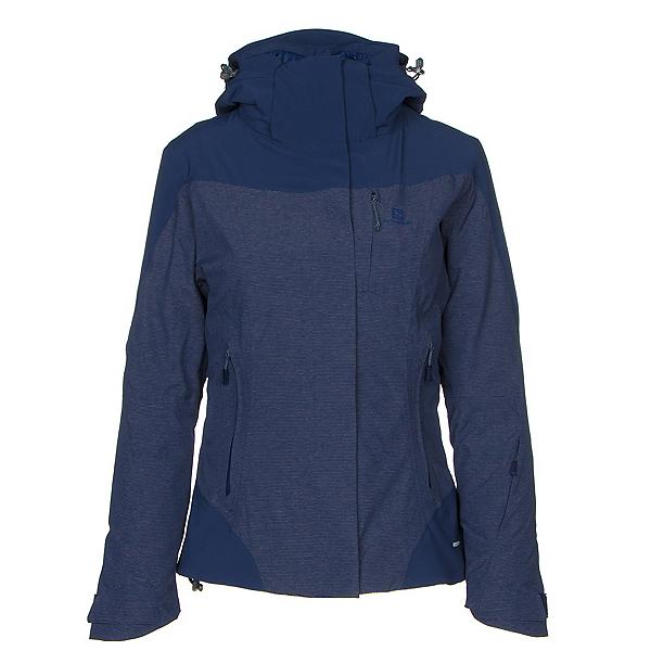 Salomon Icerocket Plus Womens Insulated Ski Jacket, Medieval Blue, 600