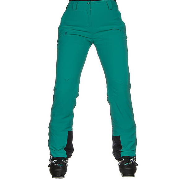 Salomon Icemania Womens Ski Pants 2019, Waterfall, 600