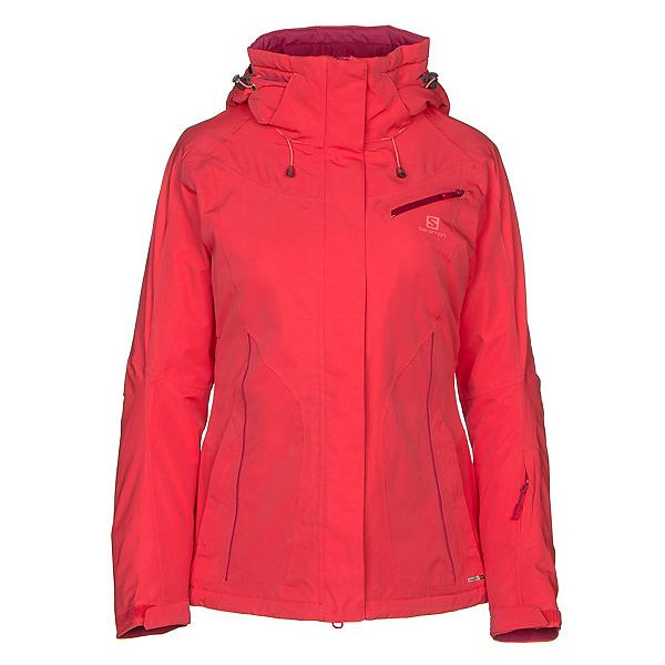 Salomon Fantasy Womens Insulated Ski Jacket, Hibiscus Heather, 600