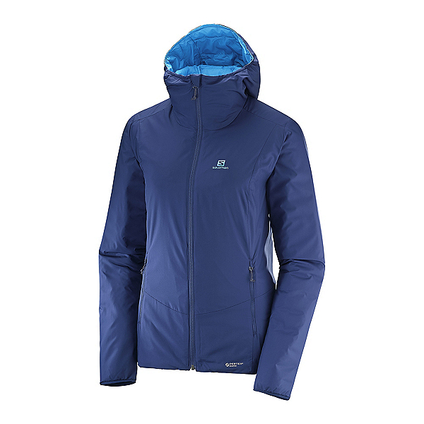 Salomon Drifter Loft Hoodie Womens Jacket, Medieval Blue-Hawaiian Surf, 600