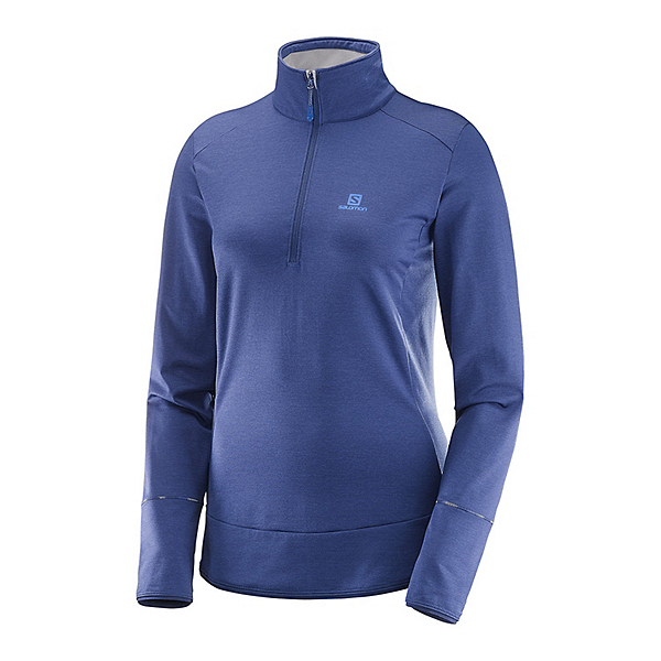 Salomon Discovery Half Zip Womens Mid Layer, Medieval Blue, 600