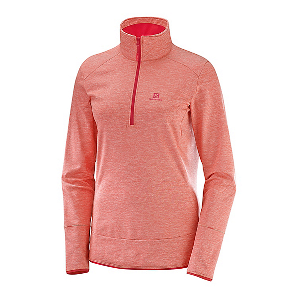 Salomon Discovery Half Zip Womens Mid Layer, Dubarry Heather, 600