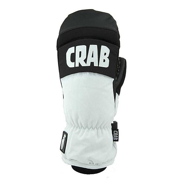 Crab Grab Punch Mittens, White-Grey, 600