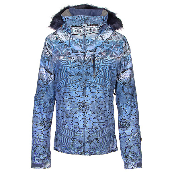 Roxy Jet Ski Premium w/Faux Fur Womens Insulated Snowboard Jacket, Crown Blue-Freezeland, 600