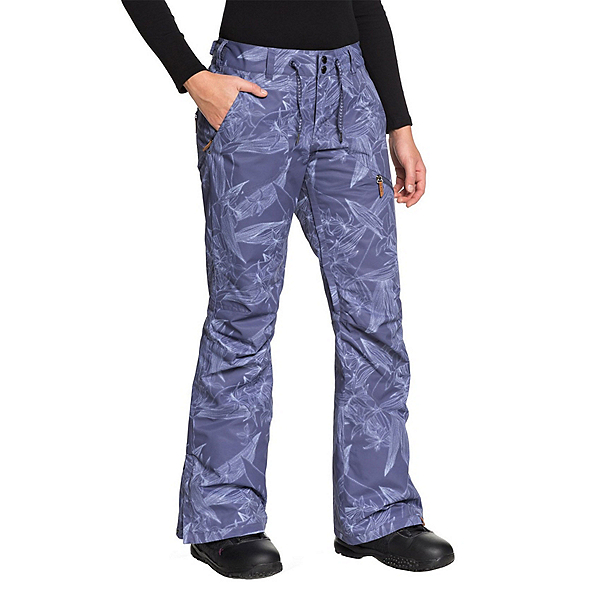 Roxy Nadia Printed Womens Snowboard Pants 2019, Crown Blue-Washed Floral, 600
