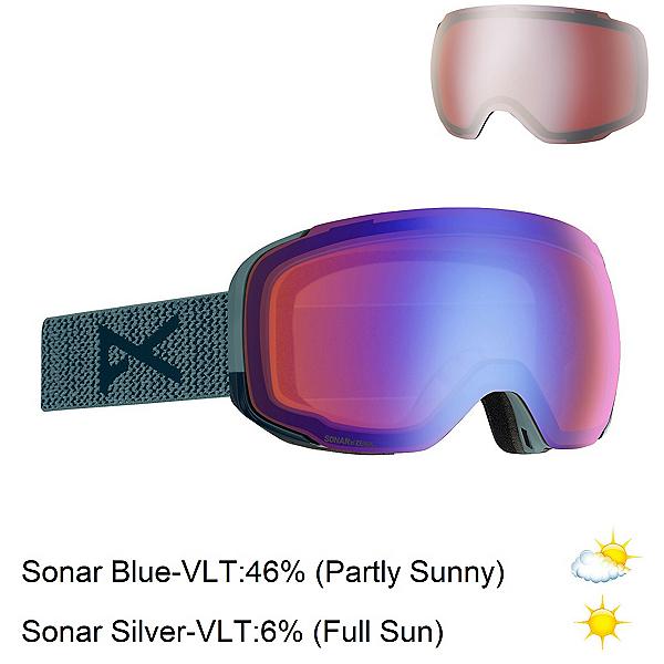 Anon M2 Goggles 2020, Lay Back-Sonar Blue + Bonus Lens, 600