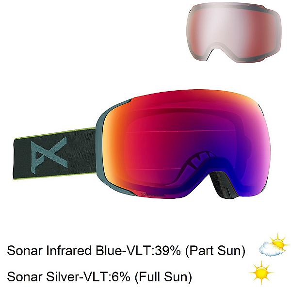 Anon M2 MFI Goggles, Gray Pop-Sonar Infrared Blue + Bonus Lens, 600