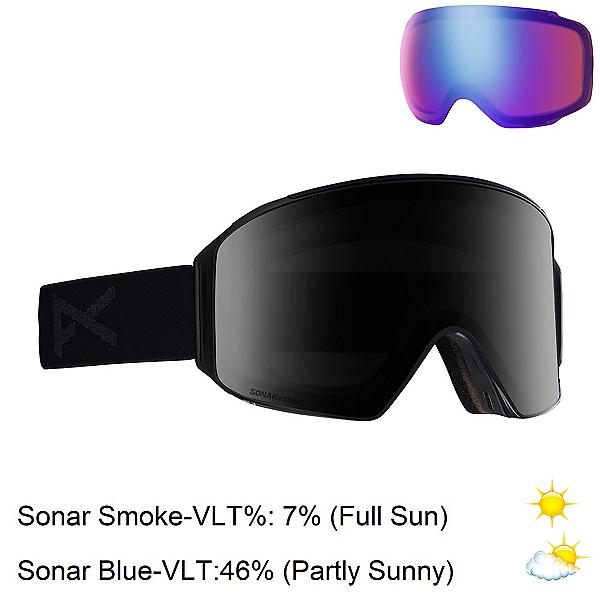 Anon M4 Cylindrical Goggles 2020, Smoke-Sonar Smoke + Bonus Lens, 600