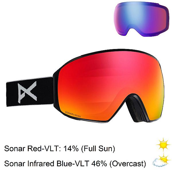 Anon M4 Toric Goggles 2020, Black-Sonar Red + Bonus Lens, 600