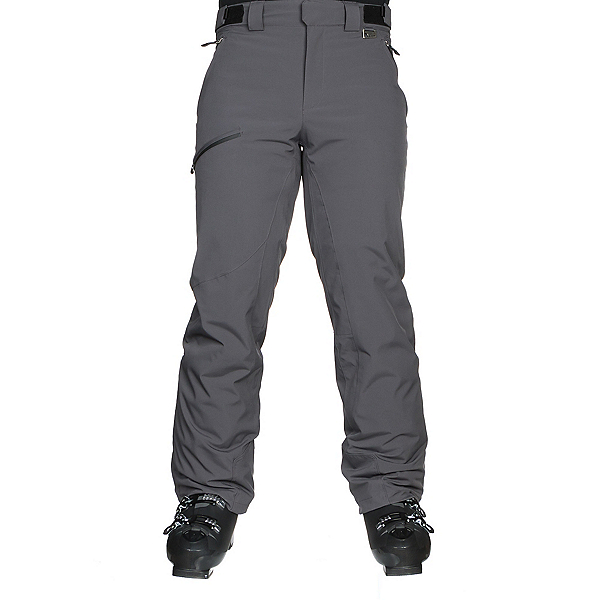 Karbon Silver Trim Fit Mens Ski Pants, Anvil-Black, 600