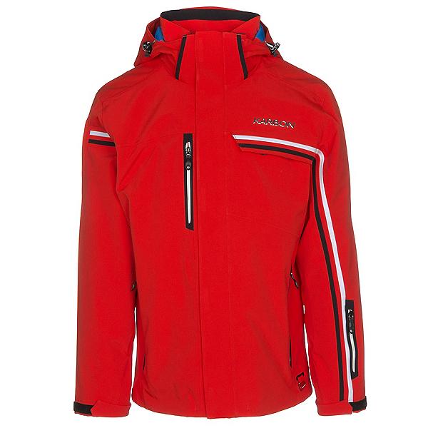 Karbon Apollo Mens Insulated Ski Jacket, Fire-Arctic White-Black-Black, 600