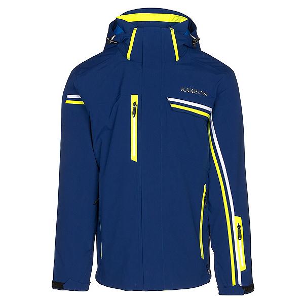 Karbon Apollo Mens Insulated Ski Jacket, Ink-Arctic White-Bright Yellow, 600