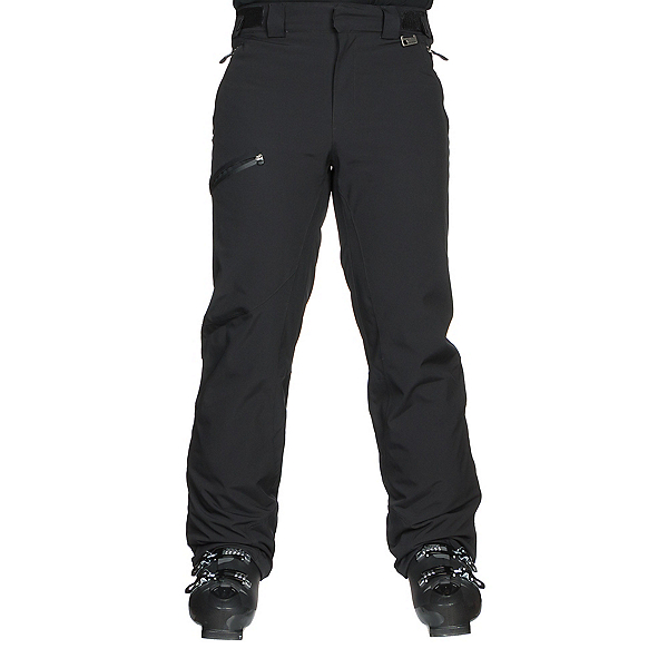 Karbon Silver II Trim Mens Ski Pants, Black-Black, 600