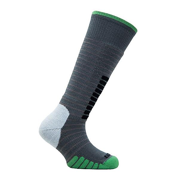 Euro Sock Ski Supreme Kids Ski Socks, Grey-Green, 600