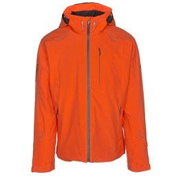 Descente Regal Mens Insulated Ski Jacket, Blaze Orange-Midnight Shadow, 256