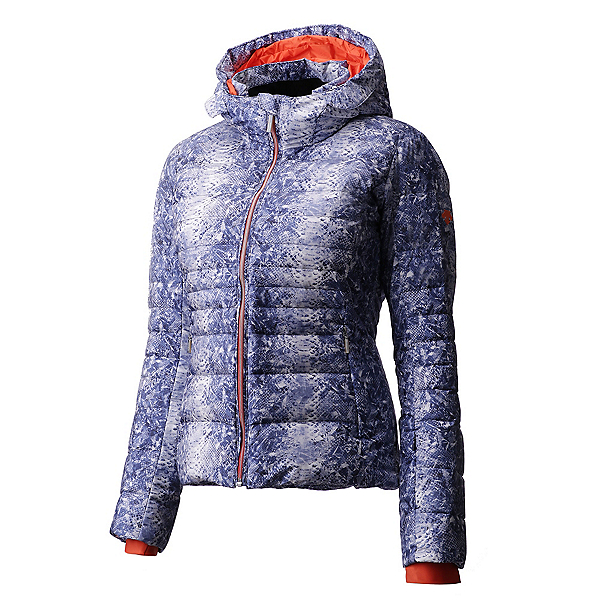 Descente Rachael Womens Insulated Ski Jacket, Blue Based Print Blmf, 600