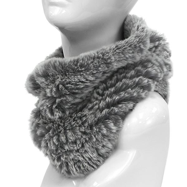 Mitchies Matchings Rabbit Knit Women's Neck Warmer, Chinchilla, 600