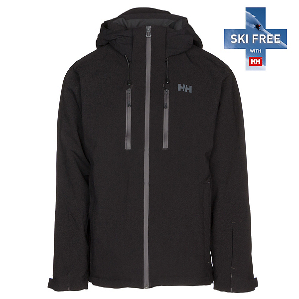 Helly Hansen Juniper 3.0 Mens Insulated Ski Jacket, Black, 600