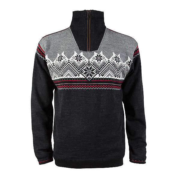 Dale Of Norway Glittertind Masculine Mens Sweater, Dark Charcoal-Black-Off White-, 600