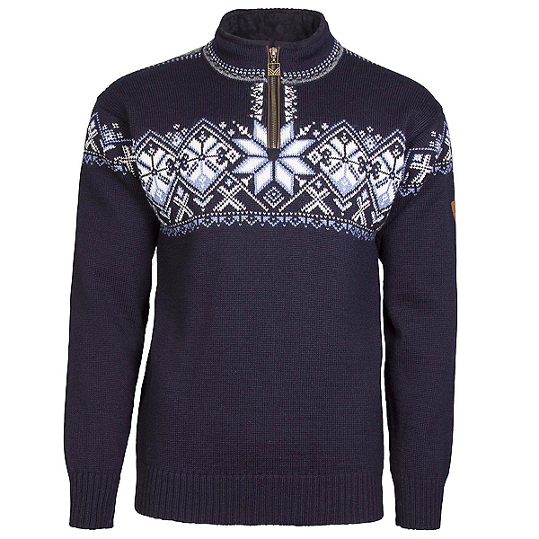 Dale Of Norway Geiranger Masculine Mens Sweater, Navy-Smoke-Off White-Blue Shad, 600
