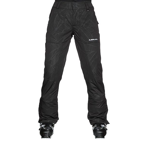 Armada Lenox Insulated Womens Ski Pants, Black Banana Leaf, 600