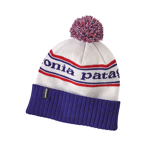 Patagonia Powder Town Beanie Hat, Park Stripe Viking Blue, 600