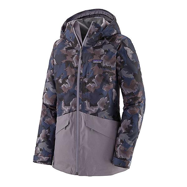 Patagonia Snowbelle Womens Insulated Ski Jacket, Maple Camo Smokey Violet, 600