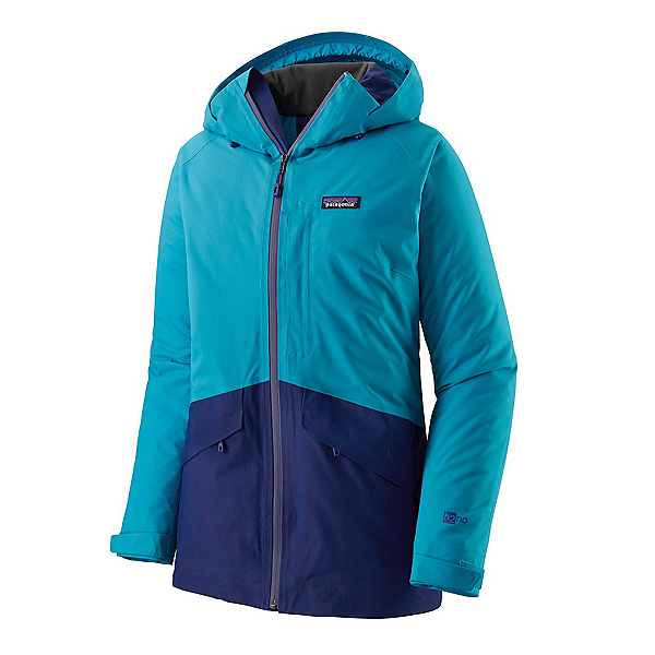 Patagonia Snowbelle Womens Insulated Ski Jacket, Curaco Blue, 600