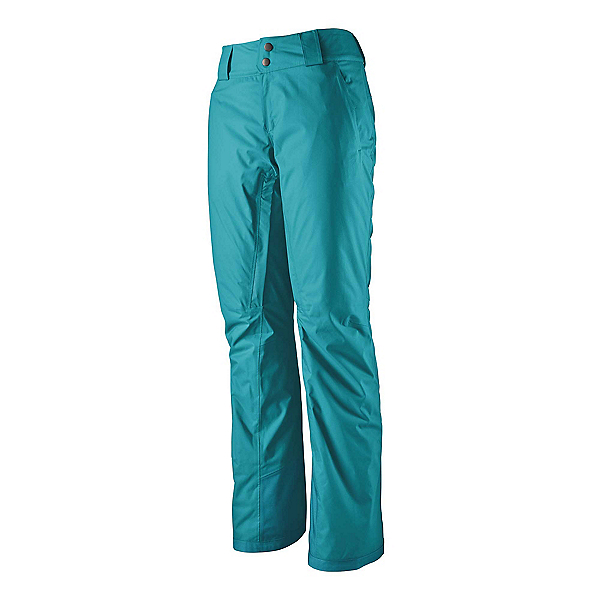 Patagonia Snowbelle Insulated Womens Ski Pants, Curacao Blue, 600
