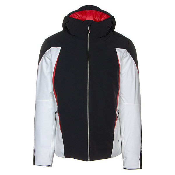 Rh+ Catedral Mens Insulated Ski Jacket, Black-White-Red-Red, 600