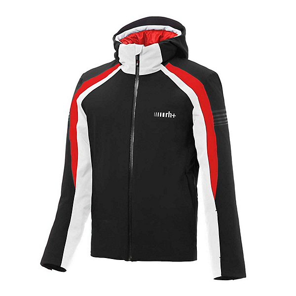 Rh+ Portillo Mens Insulated Ski Jacket, Black-Red-White, 600
