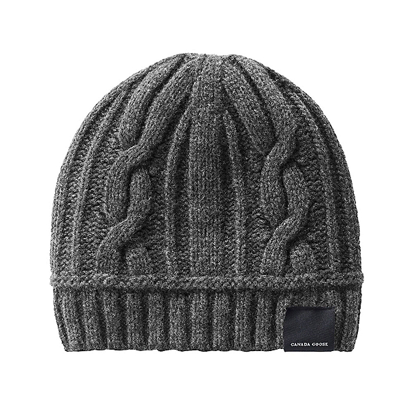Canada Goose Cable Toque Womens Hat, Iron Grey, 600