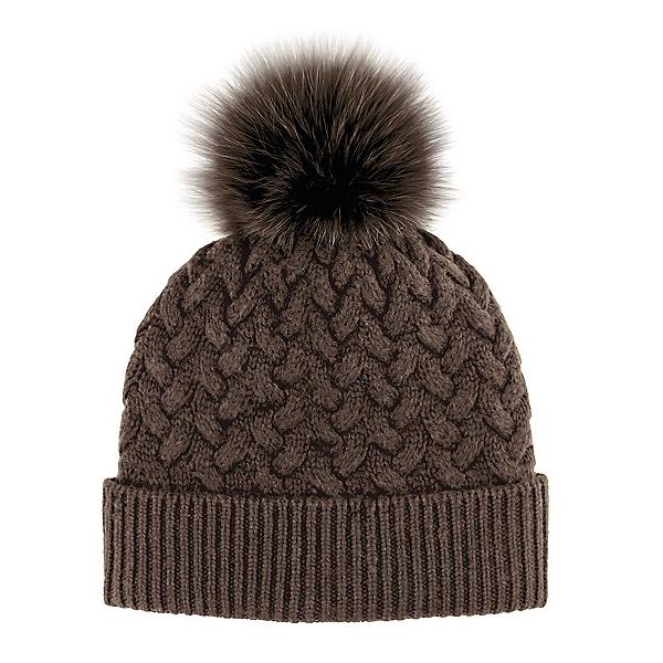 Mitchies Matchings Braided Knit with Fox Fur Pom Womens Hat 2019 854f0ad95b7