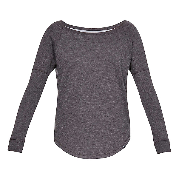 Under Armour Waffle Crew Womens Mid Layer, Charcoal Full Heather-Charcoal, 600