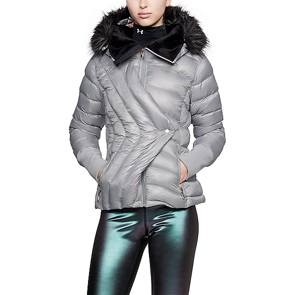 Under Armour LV Louise Womens Insulated Ski Jacket, Metallic Silver-Metallic Gold, 600