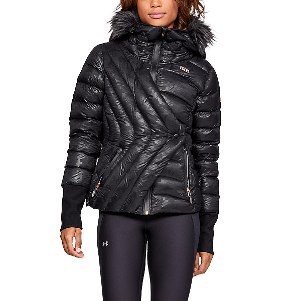 Under Armour LV Louise Womens Insulated Ski Jacket, Ultimate Black-Metallic Gold R, 600