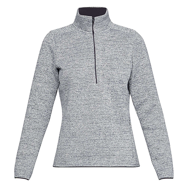 Under Armour Wintersweet 2.0 1/2 Zip Womens Mid Layer, Overcast Gray-Overcast Gray-Wh, 600