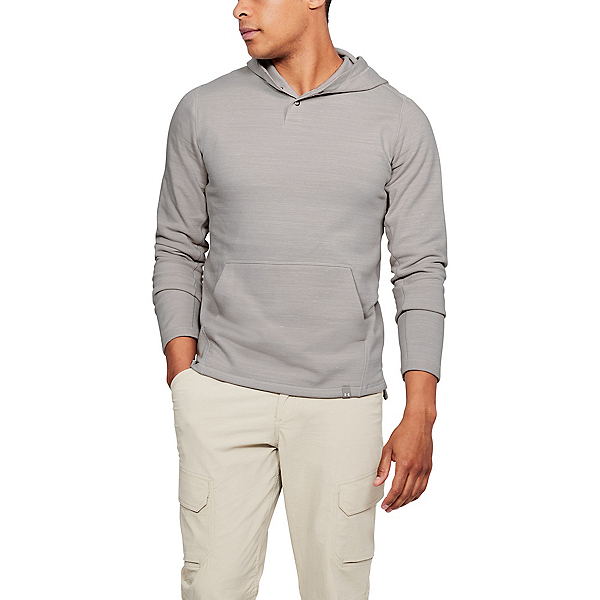 Under Armour Threadbone Fleece Mens Hoodie, Ghost Gray-Ghost Gray, 600