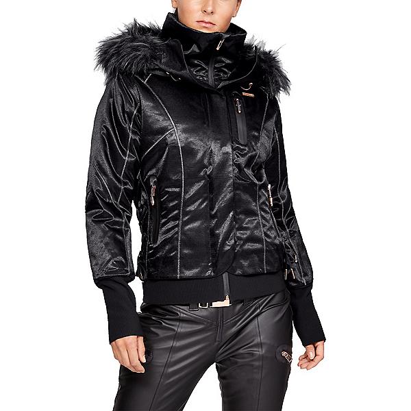Under Armour LV Maribor Womens Insulated Ski Jacket, Ultimate Black-Metallic Gold R, 600