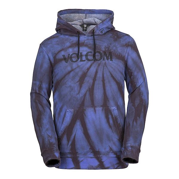 Volcom Jamies Fleece Mens Hoodie, Blue Tie Dye, 600