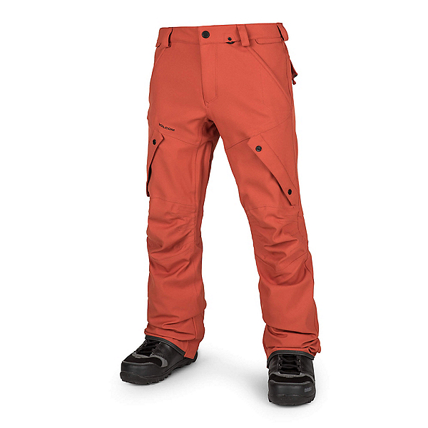 Volcom Articulated Mens Snowboard Pants, Burnt Orange, 600