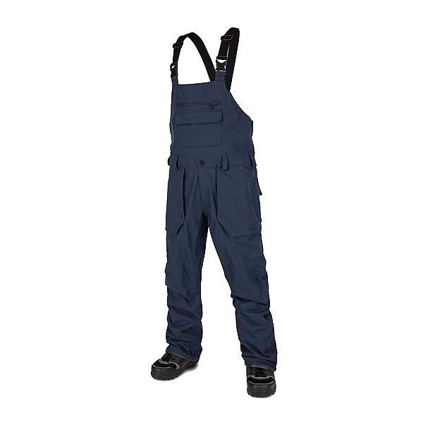 Volcom Roan Bib Overall Mens Snowboard Pants, Navy, 600