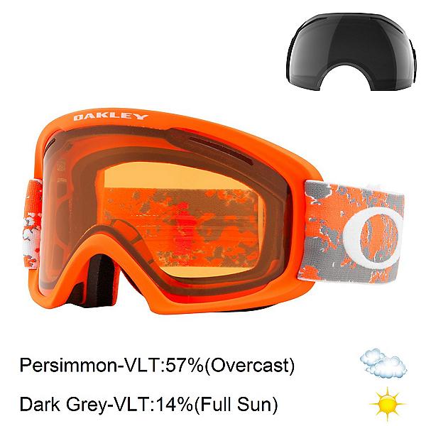 Oakley O2 XL Goggles, Arctic Fracture Orange-Persimm + Bonus Lens, 600