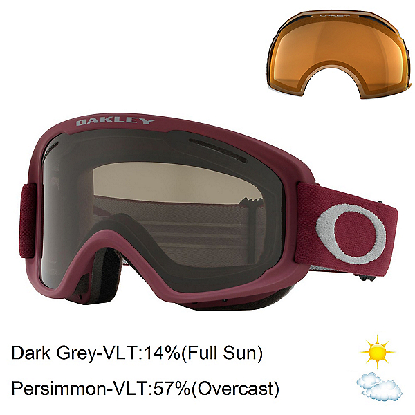 Oakley O2 XM Goggles 2019, Port Sharkskin-Dark Grey + Bonus Lens, 600
