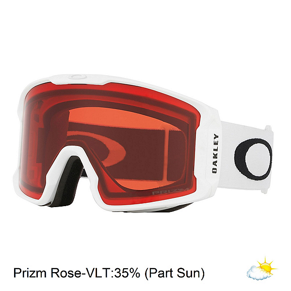 Oakley Line Miner XM Prizm Goggles, Matte White-Prizm Rose, 600