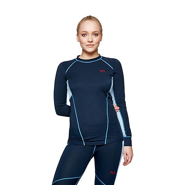 Kari Traa Svala Long Sleeve Womens Long Underwear Top, Naval, 600