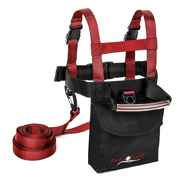 Lucky Bums Ski Trainer Harness Kit, Black Red, 600