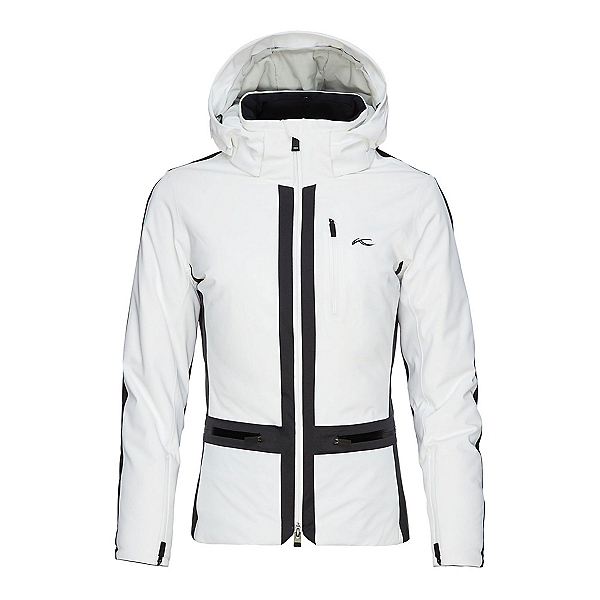 KJUS Nuna Womens Insulated Ski Jacket, White-Black, 600